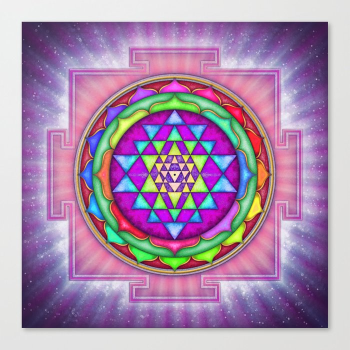 Sri Yantra VII.IX Canvas Print
