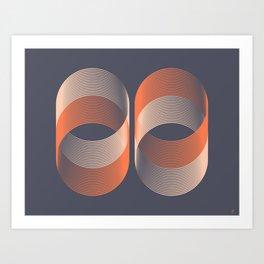 Double Cylinder Art Print