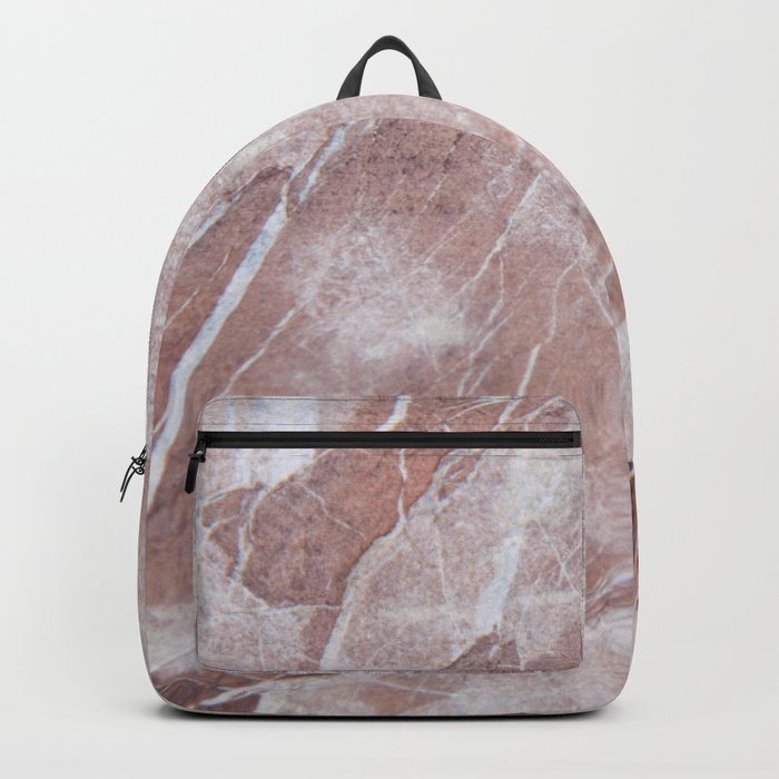 Natural Rose Marble #1 #decor #art #society6 Backpack