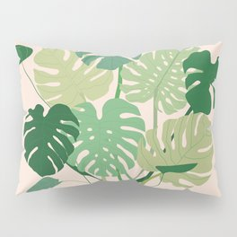 Monstera plant + Wall inspo Pillow Sham