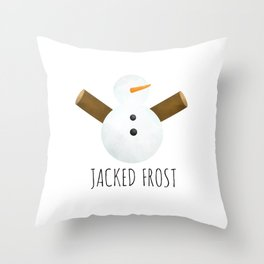 Jacked Frost Throw Pillow