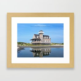 OBX - Life Saving Station. Framed Art Print