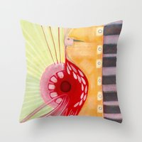 deco Throw Pillows featuring Deco by Angella Meanix