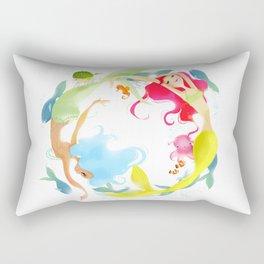 Mermaid Circle Rectangular Pillow