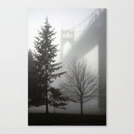 St. Johns Bridge in the fog Canvas Print