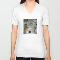 seashell V-neck T-shirts featuring seashell,sea by ira gora