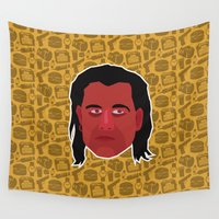 pulp fiction Wall Tapestries featuring Vincent Vega - Pulp Fiction by Kuki