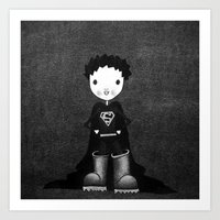 superhero Art Prints featuring Superhero by Sylphing