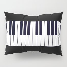 Piano Keys - Black and white simple piano keys pattern minimalistic music themed artwork Pillow Sham