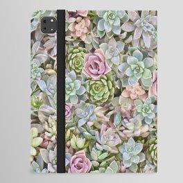 Succulent Pastel iPad Folio Case