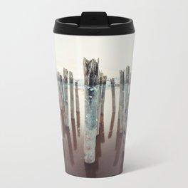 Pilings Clad in Winter Travel Mug
