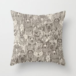canadian animals natural Throw Pillow