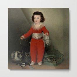 """Francisco Goya """"Manuel Osorio Manrique de Zuñiga"""" Metal Print"""