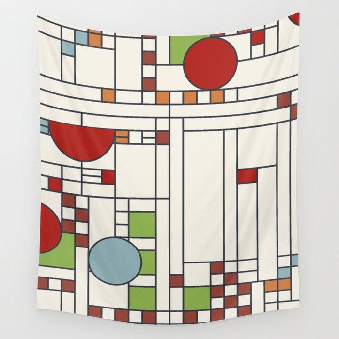 Frank Lloyd Wright Pattern S02 Wall Tapestry