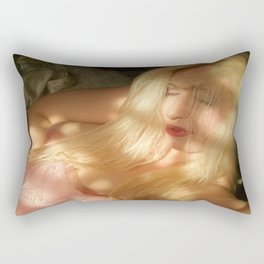 nude goddess ladykashmir pink veil collection Rectangular Pillow