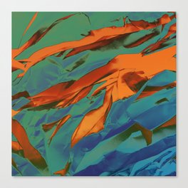 Green, Orange and Blue Abstract Canvas Print