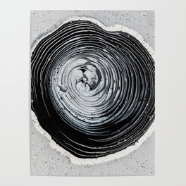 The Hole (Black and White) Poster