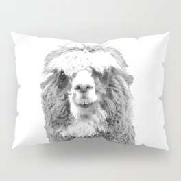 Black and White Alpaca Pillow Sham
