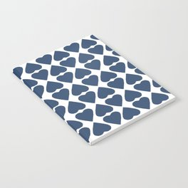 Diamond Hearts Repeat Navy Notebook