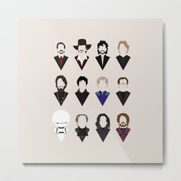 12 Alan Rickmans Metal Print