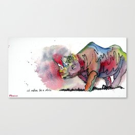 I'd rather be a rhino Canvas Print