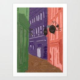 Whitby Colours Art Print