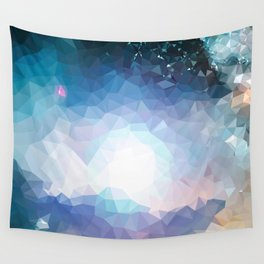 Galaxy low poly Wall Tapestry