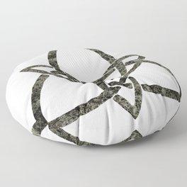 Rustic Celtic Knot Floor Pillow