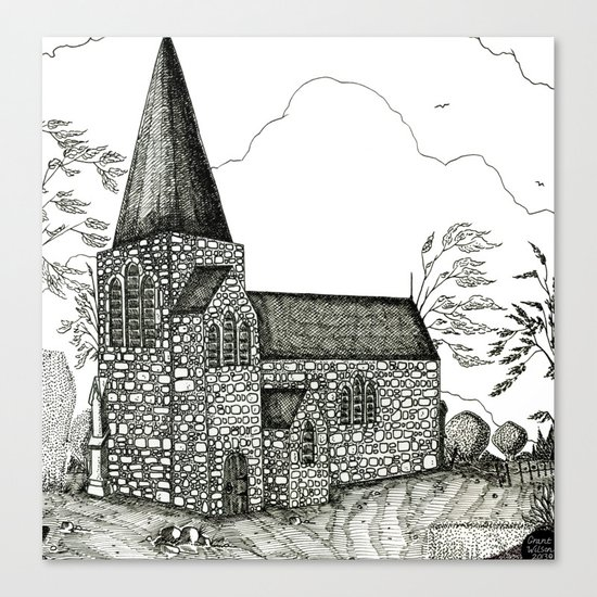 In-spire [Pen drawing version] Canvas Print