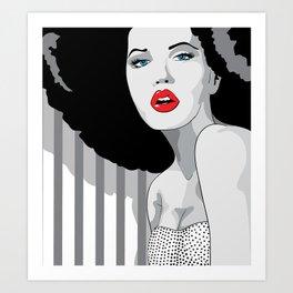 Woman hair Art Print