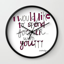 Forever With You.  Wall Clock