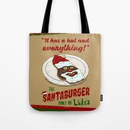 Santa Burger Tote Bag