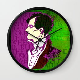 LORD BYRON, POET, HELLRAISER AND MADMAN Wall Clock