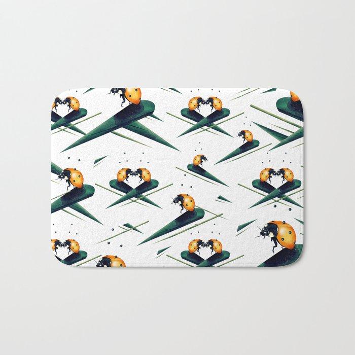 Bugs in Love (Pattern) Bath Mat