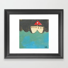 Red Sailboat Framed Art Print