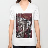 indian V-neck T-shirts featuring Indian by the_continuum