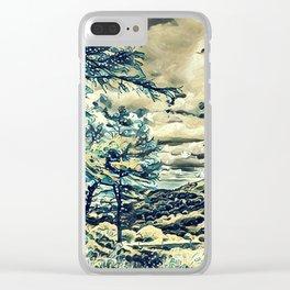 Oriental Hillside Clear iPhone Case