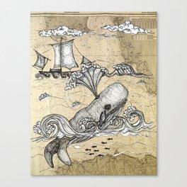 Vintage Whaler Canvas Print
