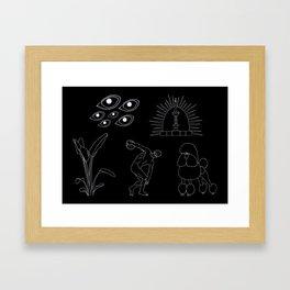 Caniche Parkour Framed Art Print
