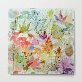 Fall impression, digital water colour art Metal Print
