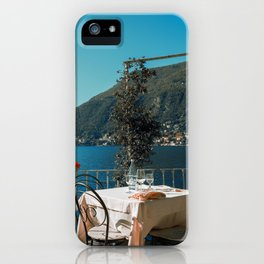 Lunch on the lake iPhone Case
