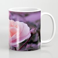 champagne Mugs featuring Champagne Rose by Lena Photo Art