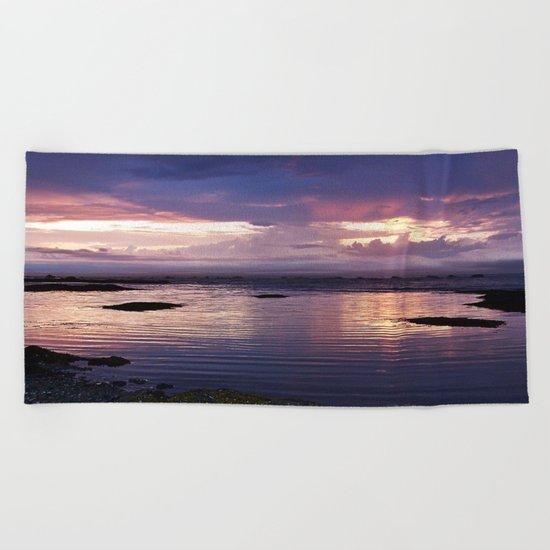 Sunset Split Beach Towel