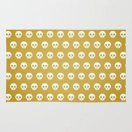 Pixel Skulls - Gold Rug