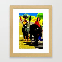 Buffalo Girls– Ranthambore, India Framed Art Print