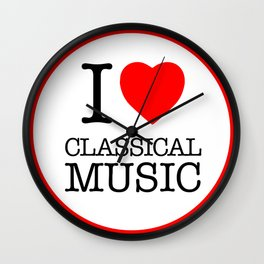 I Love Classical Music, circle Wall Clock