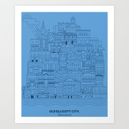 Old Ellicott City Art Print