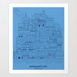 Old Ellicott City Art Print