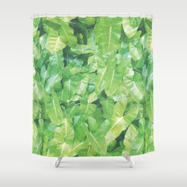 SUMMERTIME PALM Shower Curtain