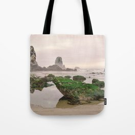 Haystack Rock Needles Cannon Beach Seastack Tidal Rocks Marine Garden Oregon Coast Northwest Tote Bag